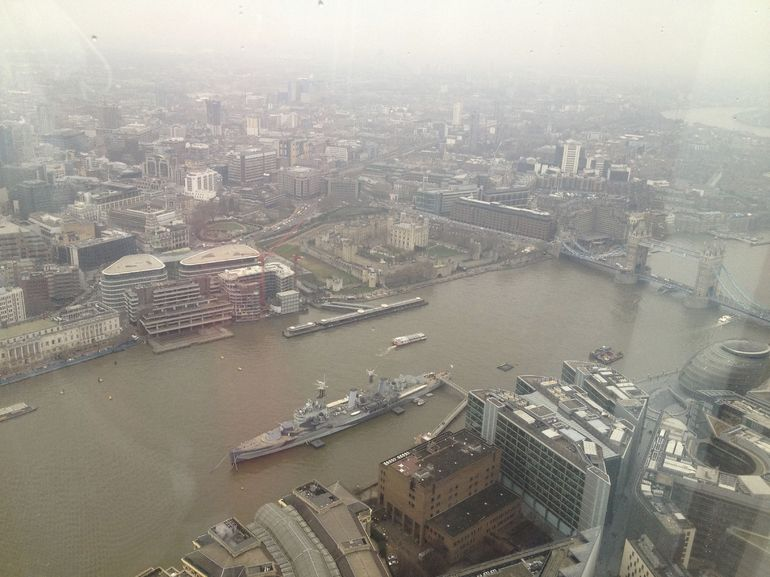 View from the Shard, Feb. 12, 2013, 3 pm. - London