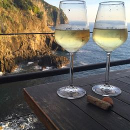 A last glass of wine before heading out of Riomaggiore. , Justin H - October 2015