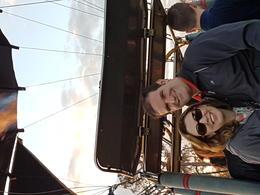 Eu e minha esposa. Antes do balão levantar voo. , Andre - January 2017