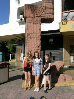 My daughters in Tijuana, Mexico, whilst out shopping. , Judith I - July 2012