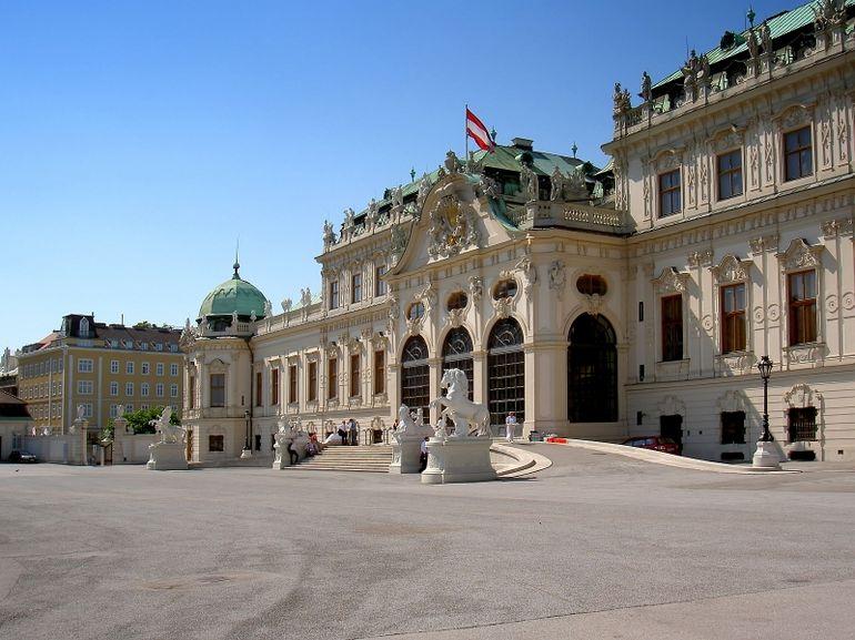 Belvedere Palace front in Vienna - Vienna