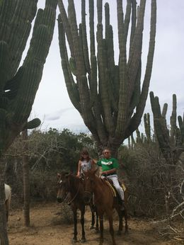 My daughter and I enjoying the best horseback ride of our lives!!!! , jose rios - July 2014