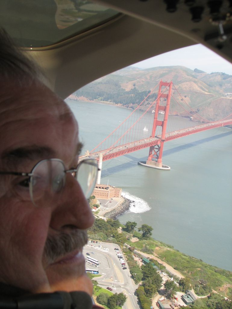 Dad & Golden Gate Bridge - San Francisco