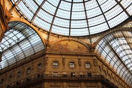 Ceiling of the Galleria. More than a shopping mall, it's known as and quot;il salotto bueno and quot; ( the city's fine drawing room) to Milan's residents. , Richard D - October 2013