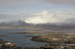 An aerial view of ReyKjavik on the helicopter tour. , Cherie B - April 2014