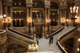 Grand staircase in the Garnier Opera House. Beautiful. , Teri S - July 2011