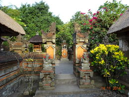 part of the ancient Balinese House(place where family offers prayers) , satish chandra - November 2014