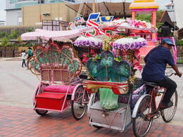 So funny rickshas you can see in Malacca , Victoria M - January 2015
