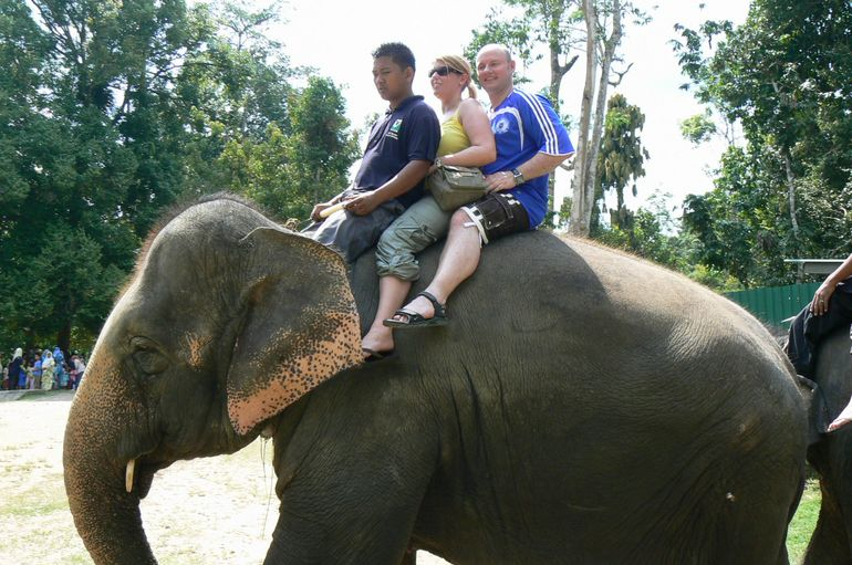 Me and Caroline taking a ride - Kuala Lumpur