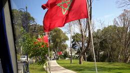 La bandera de Marruecos nos recibe durante el recorrido , EUSEBIO A - July 2016
