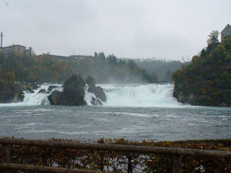 Rhine Falls - from far - Zurich