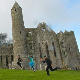 Having fun with our JumpingTwins at the Rock of Cashel , JumpingNorman - May 2014