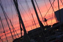 Sunset in Barcelona port, SCV - January 2013