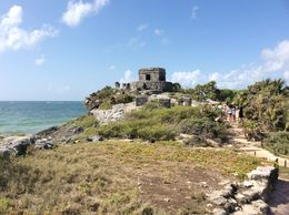 Mayan Ruins at Tulum over looking the Sea , Tenecia M - June 2015