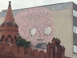 Street art next to the Oberbaumn Bridge , Lynn M - October 2014