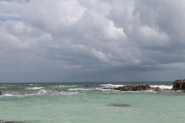 The beach area. - Cozumel