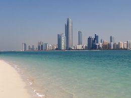 Abu Dhabi horizon taken from the Heritage Village , Charlene L - January 2014