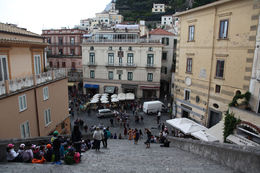 Taken from the top of the Amalfi church steps looking down on the main square (piazza) below , Rick Reynolds - June 2013