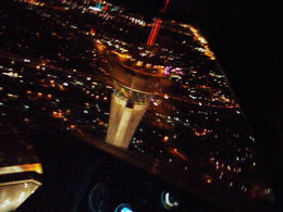 Pic of Stratosphere taken from chopper cockpit. Nightflight over Strip, with brother Mark , MICHAEL H - June 2013