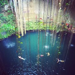 Refreshing, clean, aquamarine, underground swimming pool. Once in a lifetime opportunity to swim in a natural wonder. Bring your bathing suit and towel. You can rent a life vest for 2. , Elise R - May 2016
