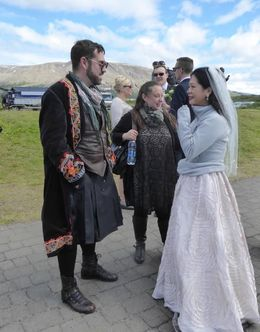 This couple were married at the Gullfoss Waterfall , Herb S - August 2016
