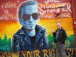 Rock 'n Roll tour: One of my musical heroes, immortalized in paint in New York, Robert S - November 2010