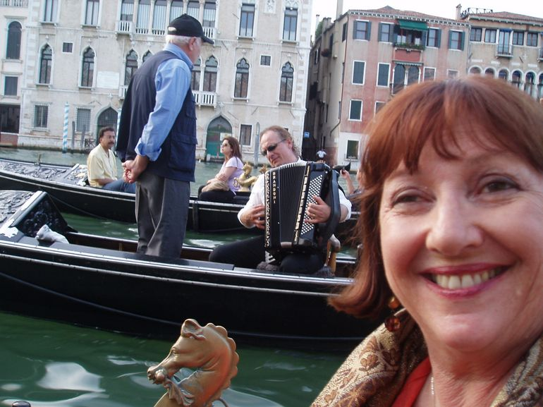 Josephine with the Songster and Musician at the Grand Canal in Venice - Venice