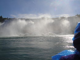 This was taken from the Maid of the Mist and is a shot of the Horseshoe Falls. The person on the right of the photo is wearing the plastic we all get (and we do need it as there is a lot of water ... , Gordon R - October 2012