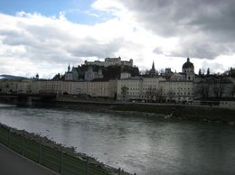 Old Town Salzburg from across the Salzac River., Ashley L - March 2008