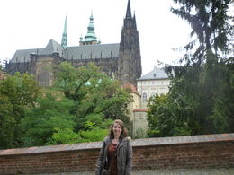 Me in front of St Vitus Cathedral, Irene - October 2013