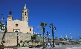 17th century seaside church of Sant Bartomeu and Santa Tecla , Saysha - June 2013