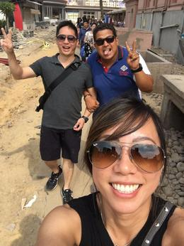 Nick me, Smiley our tour Guide, and Jen my fiancee , Nicholas M - October 2016
