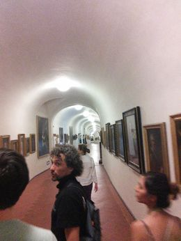 Mario guiding us diligently and explaining everything to us in detail through Vasari Corridor. , Andaluza N - August 2014
