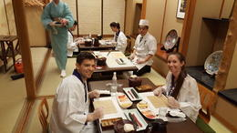 Sushi Rolling Class, class is small so a lot of individual time , Justin U - April 2017