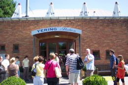 We all have just arrived for the 1st tasting at Yering Station under sunny Yarra Valley skies. A beautiful day with vineyards green and lush all over the valley., Stuart R - January 2008