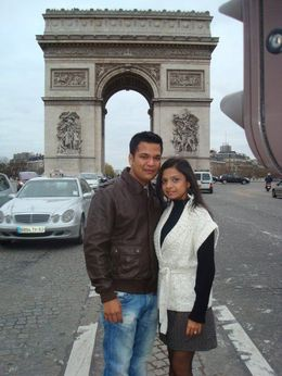Outside the Arc de Triomphe - July 2014