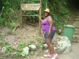 I was not brave enough for the walk down the mountain, so I settled for a picture by the sign! , Latifah M - October 2011