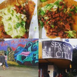 Picture of the best tacos we've ever had! And some fun art and a shop we saw. , Sarah S - January 2016