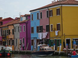 a section of the colorful houses of burano , Albert J - May 2015