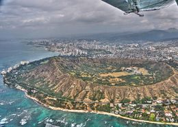 View of Diamond Head looking back at Honolulu , Tom S - February 2016