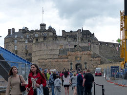Walking up to the front gate of the castle , Amy - August 2013