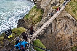 carrick a rede rope bridge crossing, Sherry O - March 2015