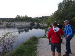 Bij zonsondergang naar de kalsteengroeve. , C.J. d - September 2014