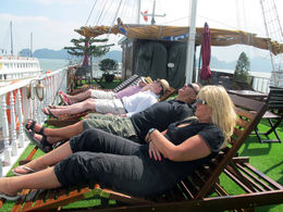 Relaxing on sundeck - July 2014