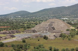 View of the Pyramid of the Moon from on top of the Pyramid of the Sun., Bandit - September 2012