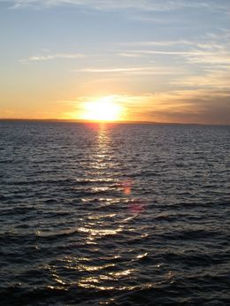 Sunset over Geographe Bay - taken from Busselton Jetty. - September 2008
