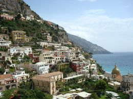 Breath taking view of Positano, one of the beautiful little towns we got to explore during our day tour., Deanna C - September 2008