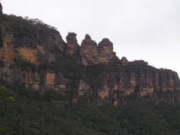 The famous Three Sisters in the Blue Mountains outside of Sydney., Christine C - July 2008