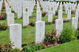 The british war cemetery contains graves from all the commonwealth countries including Britain. , David Lally - July 2015