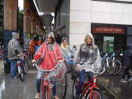 All ready for our bike ride!, sarahm - October 2012